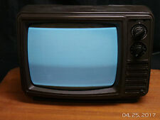 Vintage Sears Kenmore Portable Black And White Tv 1970S Movie Prop.