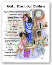ART PRINT God Touch Our Child Donald Battery Man Young
