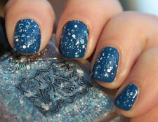 NEW! Sally Hansen Luxe Lace Nail Polish Lacquer in CROCHET ~ White Blue Glitter