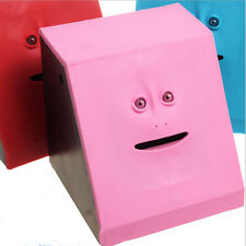 Creative Face Bank Saving Sensor Coin Money Eating Box for Kids Gifts