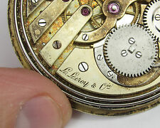 Vintage L. LEROY & Cie pocket watch movement, minute repeater, parts or project