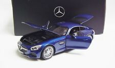 1:18 NOREV 2015 MERCEDES-BENZ AMG GT/S C190 bright blue LE 1000 NEW DEALER PROMO