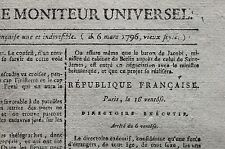 Journal révolutionnaire Gazette Nationale ou Moniteur Universel janv. avril 1796