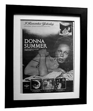 DONNA SUMMER+Remember Yesterday+POSTER+AD+RARE ORIG 1977+FRAMED+FAST GLOBAL SHIP