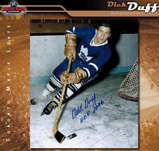 DICK DUFF Signed Toronto Maple Leafs 8 x 10 Photo - 70321 - Montreal Canadiens