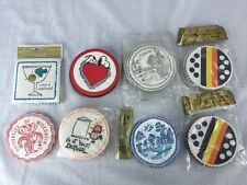 Vintage lot of paper coasters  snoopy wisconsin Badgers England Hallmark Kansas