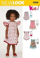 NEW LOOK SEWING PATTERN CHILD'S DRESS & PURSE  SIZE 3 - 8 6358