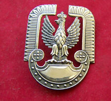 Polish PILOT AIRFORCE BADGE - POLAND EAGLE with HUSSAR wings PILOT HAT P.A.F