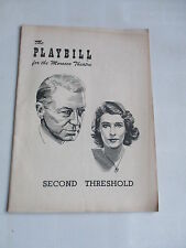 1951 PLAYBILL MOROSCO THEATRE SECOND TRESHOLD