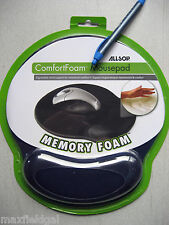 NEW Allsop ComfortFoam Mouse Pad, memory foam Wrist rest fabric Cover w/warranty