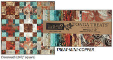 Timeless Treasures Tonga Treats - Treat Mini Copper - Pattern included
