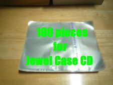 Resealable Outer Plastic Sleeves for CD Jewel Cases 100