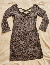 Minikleid,C&A,Gr. S,mehrfarbig,Leopardenmuster,Mischgewebe