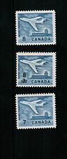 CANADA 1964  3 JET AIR PLANES # 414, 430 & 436  (cat$5.00.)  MLH   BK 01