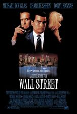 "WALL STREET Movie Poster [Licensed-NEW-USA] 27x40"" Theater Size Sheen, Douglas"