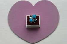 Beautiful 925 Silver Ring With Goldstone And Manganite Gems 9.6 Gr.Size P In Box