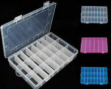 FD1942 24 Cells Storage Box Case for Rainbow Loom Kit Rubber Bands Charms Hook♫