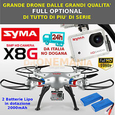 DRONE SYMA X8G XXL radiocomandato HEADLESS CAMERA FULL HD FOTO 5MPX come GOPRO