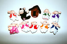 The Wolf & 7 Little Lambs finger puppets Fairy tale Nursery Rhymes Story telling