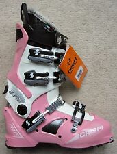 NEW CRISPI SKWO:L 4 WHITE PINK ATF (ALPINE TOURING FREERIDE) BOOTS - 26.0