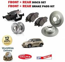 FOR CHRYSLER PT CRUISER 2.0i 2.2DT 2.4i 2000-  FRONT + REAR DISCS SET + PADS KIT