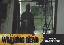 THE WALKING DEAD ** TRADING CARD SEASON 1 #13 ** WHAT HAPPENED? ** SEE MY STORE