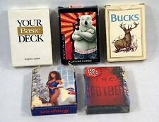 Vintage Playing Cards; Snap-On, Bucks, Coca-Cola, IBC Rootbeer, Basic Deck