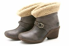 Timberland Bayden Earthkeepers Womens Boots 7 Wedge Heels Fleece Crackle Leather