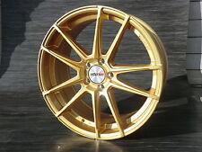 19 Zoll Motec Radical ET45 Gold Audi A3 S3 8P 8V A4 B8 A6 4F TT 8J S  Alufelgen