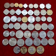 India Paisa Paise 1 2 3 5 10 20 25 50 1/4 1/2 (1 Paisa to 10 Rs. ) 53 Coins Set