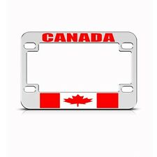 CANADA CANADIAN METAL MOTORCYCLE BIKE License Plate Frame Tag Holder