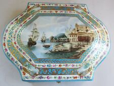 "Superb Antique 12"" Russian Porcelain Hand-Painted Box  GARDNER  c. 1880  Signed"
