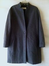 Comme NEUF Manteau Gris T. M Laine Mélangée  ZARA Grey Mix-wool Like NEW Coat: M