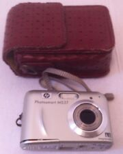 Used HP Photosmart M537 Digital Camera, With Red Leather Case, Optical Zoom
