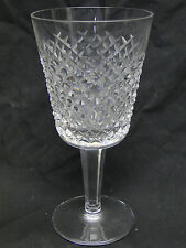 Waterford Alana Water Goblet Glasses 7in Clear Polished Cut Glass Long Stem