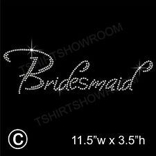 Bridesmaid Party Rhinestone/Diamante Transfer Hotfix Iron on with a Free Gift