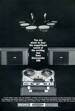 1965 Sony Superscope 200 Reel to Reel and Drums PRINT AD