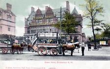 Crown Hotel Pub Cricklewood Willesden Horse Drawn Tram pc used 1904 J Allen