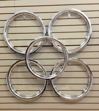 """Ford Model A Shay Deluxe Replica 18"""" Chrome Beauty Rings TRIM RING SET of 5"""