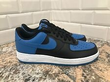 Nike Air Force 1 AF1 Black Blue White Classic Casual Mens SZ 9 820266-010