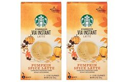 2pk Starbucks - Via Instant - Pumpkin Spice Latte Coffee Beverage 5 Packets each