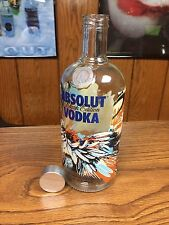RARE ABSOLUT VODKA 700ML EMPTY BLANK 2 DISPLAY BOTTLE FROM GERMANY -WOLRD SHIP