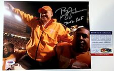 "PHILLIP FULMER SIGNED ""FINAL GAME"" 8X10 PHOTO 2012 HOF INSC. TENNESSEE PSA COA"