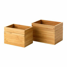 Ikea DRAGAN 2 piezas de baño Set, bambú es hard wearing material natural-B787