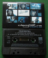 Cleopatra A Touch Of Love 2 Versions Cassette Tape Single - TESTED
