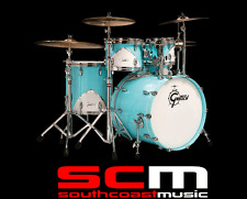 RRP$4000 GRETSCH RENOWN 57 IN MOTOR CITY BLUE 5 PCE DRUM KIT