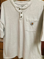 CARHARTT Mens Workwear Shirt XL EXTRA LARGE Short Sleeve Pocket T-Shirt Tee Gray