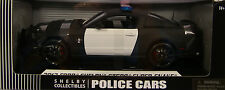 SHELBY 1:18 SCALE DIECAST METAL BLACK 2012 GT500 SUPER SNAKE UNMARKED POLICE CAR
