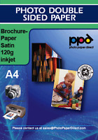 A4 Inkjet Brochure Paper Satin Double Sided 120g x 50 Sheets