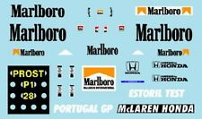 F1 DECALS MUSEUM COLLECTION D361 1/43 MCLAREN MP4/3